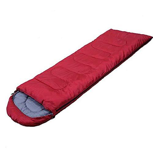 HUHUO Saco de Dormir para Acampar, Saco de Dormir al Aire Libre, Compacto Ligero Impermeable 4 Estaciones Saco de Dormir para Adultos con Saco de compresión para Acampar Senderismo Mochilero