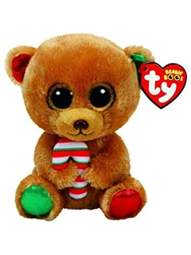 TY – Beanie Boo's Bella, Orsetto di Natale, 40 cm (United Labels Ibérica 37254TY)