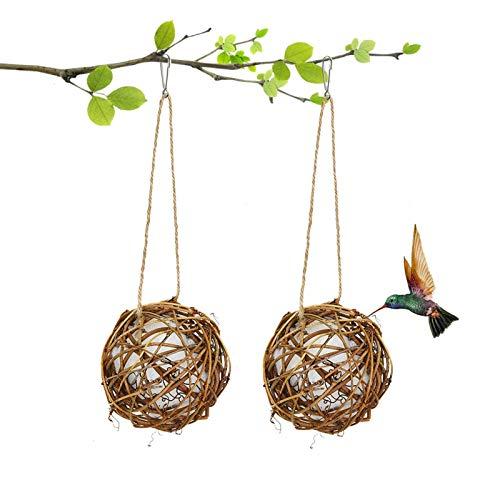 COYMOS Hummingbird Nesting, Globe Hummingbird House with Soft White Fiber...