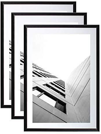Juego de 2 marcos de fotos 40 x 60 cm negro