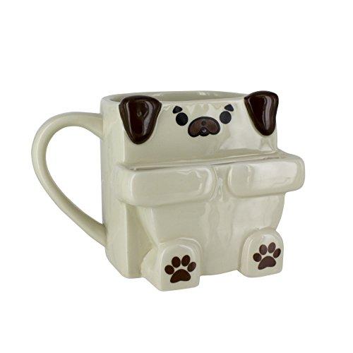 Pug Hug Coffee Mug with Cookie Holder - 10oz - Paladone