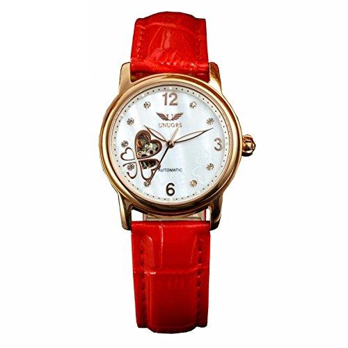 Mechanische Mode Damen Leder Armband Uhren