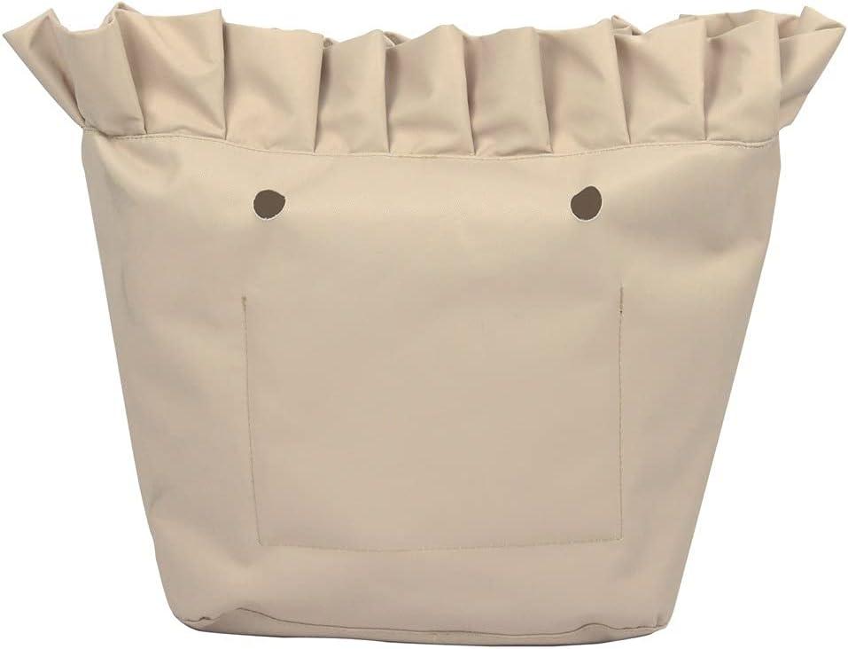 Max 65% OFF Shoulder Bags Frill Pleat Soild Inner Zippe Insert Lining Fabric New York Mall
