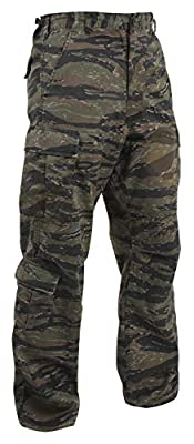 Rothco Vintage Camo Paratrooper Fatigue Pants, Tiger Stripe Camo, L