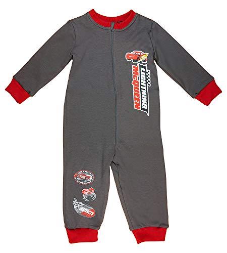 Disney Baby Kinder Cars Schlaf-Overall Pyjama Schlafanzug Junge 100% Baumwolle in Größe 98 104 110 116 122 128 Onesie mit Lightening McQueen Farbe Modell 3, Größe 128