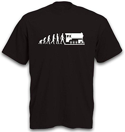 T-Shirt Evolution Dampflok Lok Eisenbahn Zug Lokomotive Train U-Bahn S-Bahn Gr. XXL