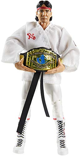 WWE Ricky The Dragon Steamboat Fan Takeover 6 in Elite Action Figure with Fanvoted Gear and Accessories 6 in Posable Collectible Gift Fans Ages 8 Years Old and Up