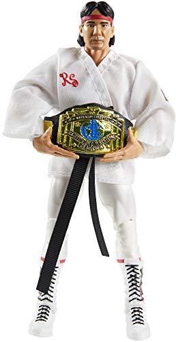 WWE Ricky The Dragon Steamboat Fan Takeover Figura de acción Elite de 6 pulgadas con...