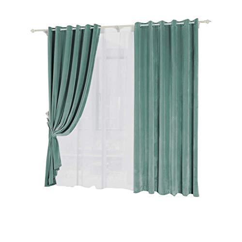 Gordijnen, minimalistische stijl, moderne kleurschakeringen, eenkleurig, velours, dik, voor slaapkamer, eenvoudig, woonkamer, gordijnen van glasbessen, afgewerkt (grootte: breedte 150 cm, hoogte 270 cm (roze)) Width 150*height 270cm (curtain) 3