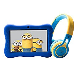 in budget affordable Contixo 7 Children's Learning Tablet and Children's Safe Headphones with Bluetooth, 85dB …