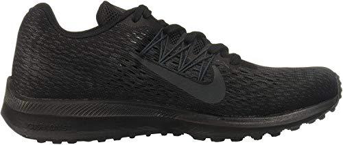 Nike Women's Air Zoom Winflo 5 Running Shoe, Black/Anthracite, 7.5