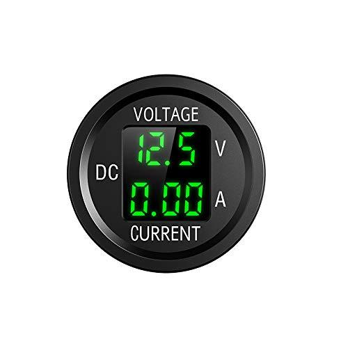 YGL 6V/48V Visualizzazione Corrente e Tensione DC voltometro Amperometro, con Display Digitale a LED, Adatto per Auto, Moto, Camion, Barche, Yacht(Verde)