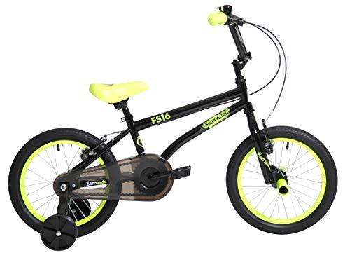 Barracuda Unisex-Youth FS 16 BMX Bicycle, Black/Yellow