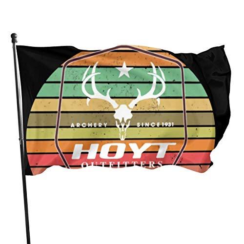 AGnight Bandera de Tiro con Arco Desde 1931 Hoyt Outfitters 100% poliéster Casa Bandera Jardín Decorativo Bandera para fanático del Deporte Hockey 3x5 FT