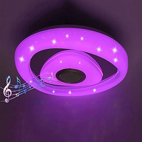 Nueva Luz De Techo LED Musical Con Altavoz Bluetooth Impermeable Lámpara De Techo RGB Regulable Para Baño, Aplicación Y Control Remoto, Pantalla De Lámpara Estrellada Para Cocina, Dormitorio