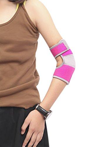 Kinder Ellenbogenbandage mit Klettverschluss Ellenbogenschoner Bandage Rutschfeste Verstellbare Ellbogenstütze Schutzpolster Ausrüstung Kompression für Sport Tennis Volleyball Fußball Tanzen