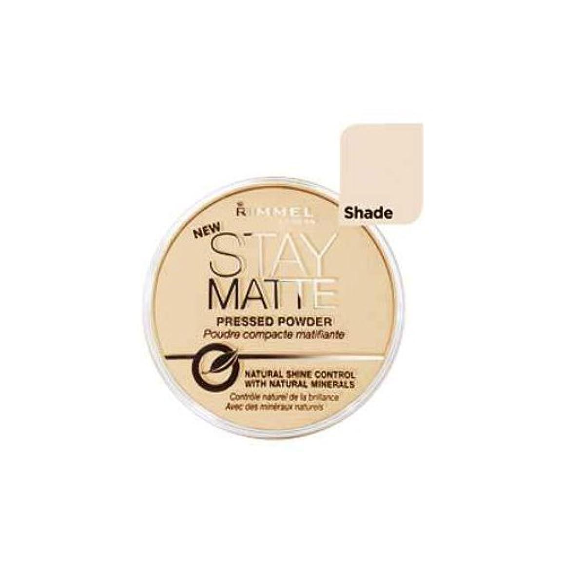 クラッシュインチ枯渇するRimmel Stay Matte Natural Shine Control Pressed Powder Silky Beige (2-Pack) (並行輸入品)