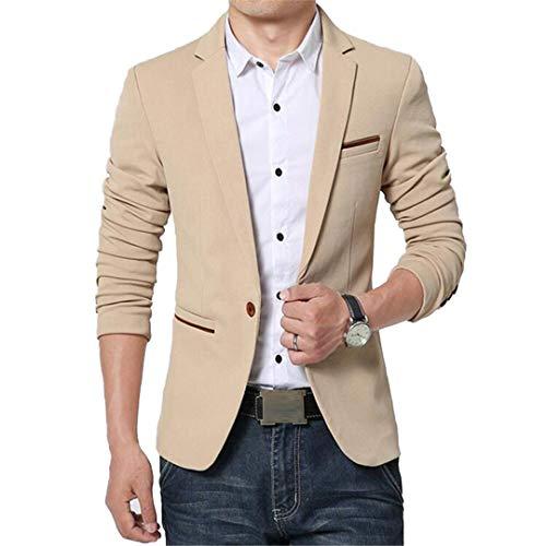 DE-PEIJIAN Casual Slim Fit Blazers Chaqueta Coreana para Hombre Trajes Primavera Otoño Chaquetas