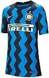 NIKE Inter Y NK BRT Stad JSY SS Hm T-Shirt, Unisex niños, Blue Spark/White Full Sponsor, L