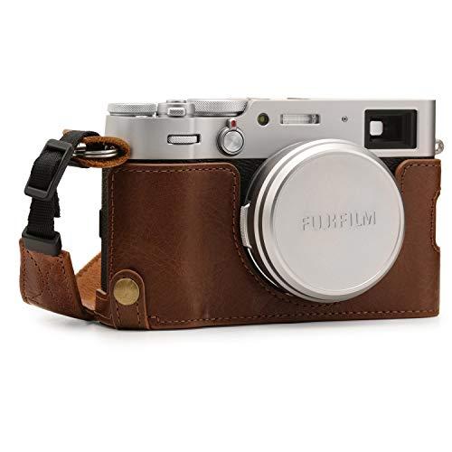 MegaGear MG1895 Ever Ready Kameratasche aus Echtleder, für Fujifilm X100V, Braun