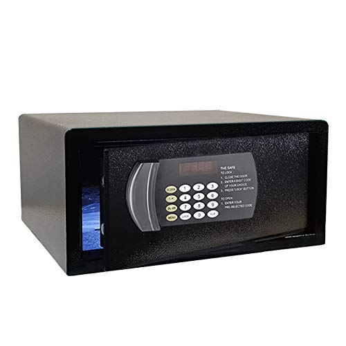 Caja Fuerte de Seguridad Cajas Fuertes Digitales Estilo Hotel - Caja Fuerte Digital Extra Grande para Hotel/Hogar/Negocios O Viajes, Negro (16.5 × 14.6 × 7.9 Pulgadas)