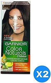 Garnier Color Naturals Cr¨me Twin Pack, 3 Dark Brown