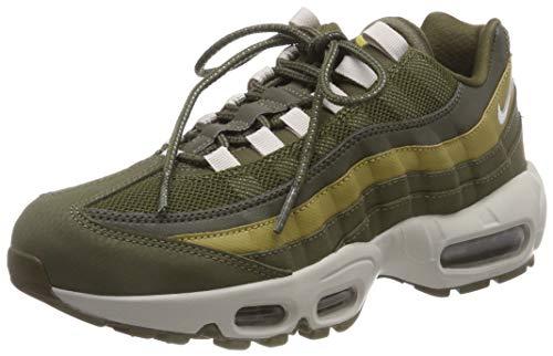 Nike Men's Air Max 95 Essential Gymnastics Shoes, Green (Olive Canvas/Lt Bone/Lt Bone/Golden Moss 303), 8 UK