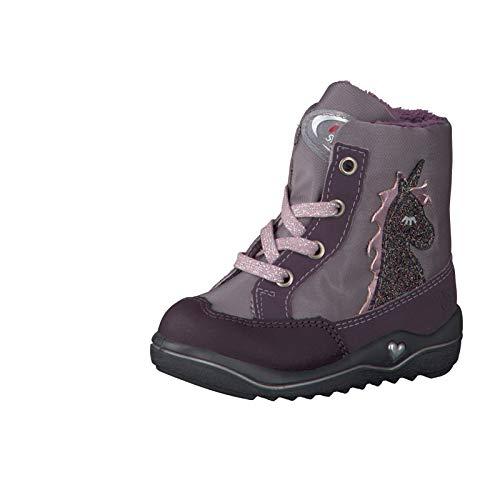 RICOSTA Mädchen Winterstiefel Alina, WMS: Mittel, wasserfest, Winter-Boots Outdoor-Kinderschuhe lammfell-Stiefel warm,dolcetto/Purple,27 EU / 9 UK