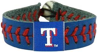 MLB Texas Rangers Team Color Baseball Bracelet