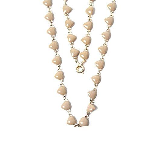 WL Fashion Halskette für Kinder mit Herzen-Motiv in taupe 030-00351