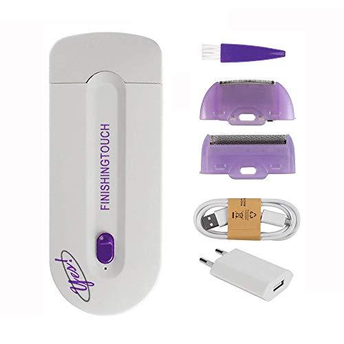 Mujeres láser depilación máquina portátil multifuncional cuerpo seguro removedor de pelo de piel recargable cuidado de belleza (2 en 1)