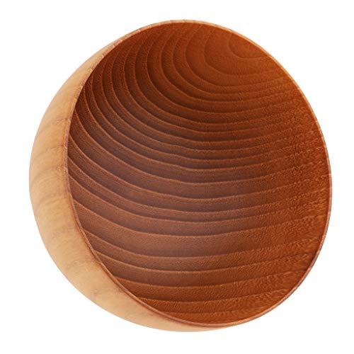 Mutifunktion Holzschalen Obstschalen Suppenschalen für Reis, Suppe, Brot, Gemüse, Obst, Nudeln - M