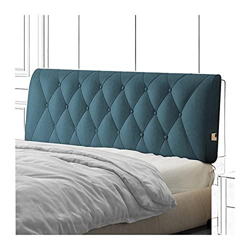 Cama Cojín Lectura Almohada Respaldo, Cuña Almohadillas Lumbares Tapizadas Impermeables para Hotel Habitación, Almohada Autoadhesiva Anticolisión PENGFEI (Color : Blue-A, Size : 150x60x10cm)