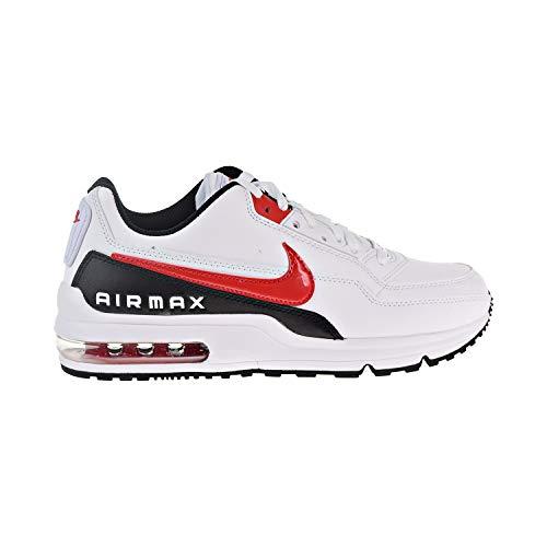 Nike Men's AIR MAX LTD 3 Casual Shoes (8, White/University Red/Black)