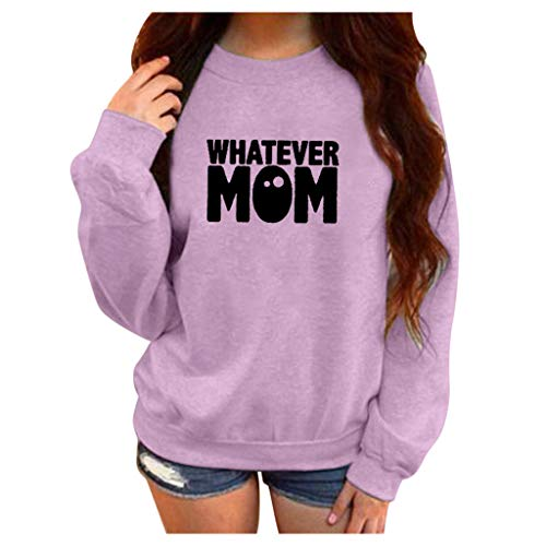 〓FEISI22〓Women's Long Sleeve Loose Printed Tops Sweater Pullover Casual Blouse T-Shirt Warm Sweater Crewneck Sweater