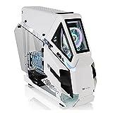 JF-TVQJ Caja Pc Gamer E-ATX PC Gaming Case Torre Completa Chasis De Computadora Blanco, Panel Lateral De Vidrio Templado - 2 * USB 3.0 - Chasis Listo para Refrigeración por Agua