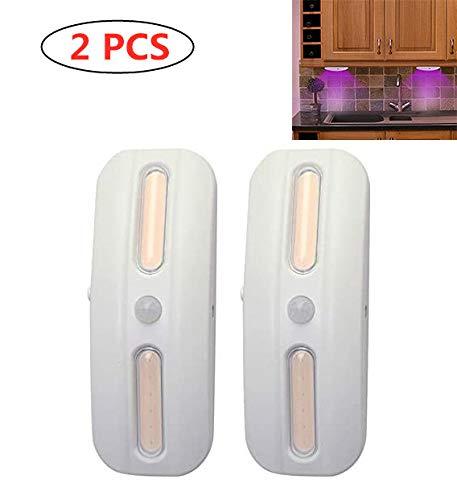 LXT PANDA UV-Desinfektionslampe, UVC-Desinfektionslicht, LED-Nachtlicht des Bewegungssensors für Flur, Toilette, Küche, Treppe, Schuhschrank, Kleiderschrank (2er Pack)