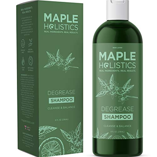 Natural Shampoo Oily Hair and Oily Scalp Treatment - Moisture Control Balance Hair Care - With Essential Rosemary Lemon Jojoba Basil and Cypress Oil - Cruelty Sulfate and Paraben Free
