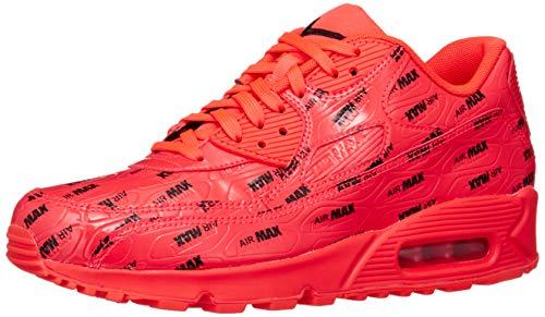 Nike Men's Air Max 90 Premium Bright Crimson 700155-604 (Size: 10.5)