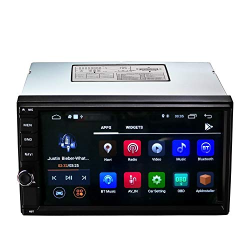 Ezonetronics 2 DIN Android Quad Core Autoradio Stereo Head Unit 7 Zoll Have Bluetooth 4.0 / GPS Navigation Build-in WiFi FM/AM/RDS Lenkradsteuerung 1024 x 600 Spieler mit 2G RAM + 16G ROM