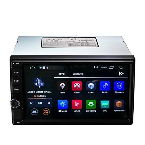 Ezonetronics Android 8.1 Autoradio Stereo Quad Core da 7 pollici Bluetooth 4.0 / GPS Navigazione integrata Wifi FM/AM/RDS Controllo del volante 1024 x 600 Lettore con 2G RAM + 16G ROM