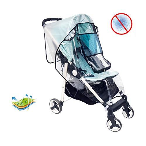 HBIAO Habillage Pluie Poussette Universelle Pare-Vent et Anti-Pluie pour Voiture bébé Protection UV Sun Cover pour poussettes