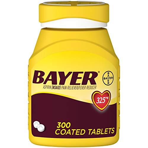 Genuine Bayer Aspirin, 325mg Coated Tablets, 300ct