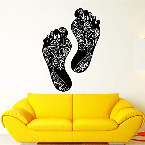 JXAA Schritte Piktogramme schöne Kunst Vinyl Applique Wandaufkleber Blume Wand Wohnkultur Schlafzimmer Tapete, 50 x 89 cm