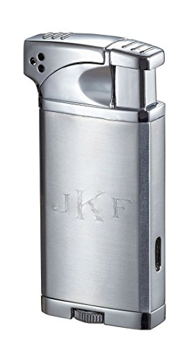 Personalized Coppia All-in-One Cigar, Cigarette, and Pipe Lighter - Chrome Free Engraving