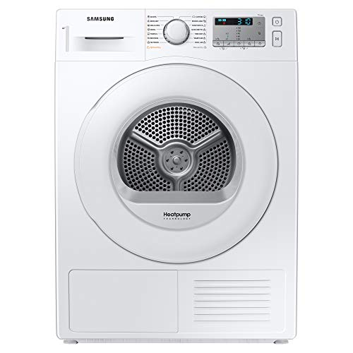 Samsung Series 5 DV80TA020TH/EU with OptimalDry™, Freestanding Heat Pump Tumble Dryer, 8 kg, White, A++ Rated
