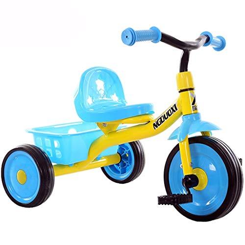 SONG Standardkinderwagen Fahrrad for Kinder Baby Dreirad Mini Balance Kinderwagen Licht Fahrrad Jungen und Mädchen von Innen- und Außen Kombination von Spielzeug (Color : Blue)