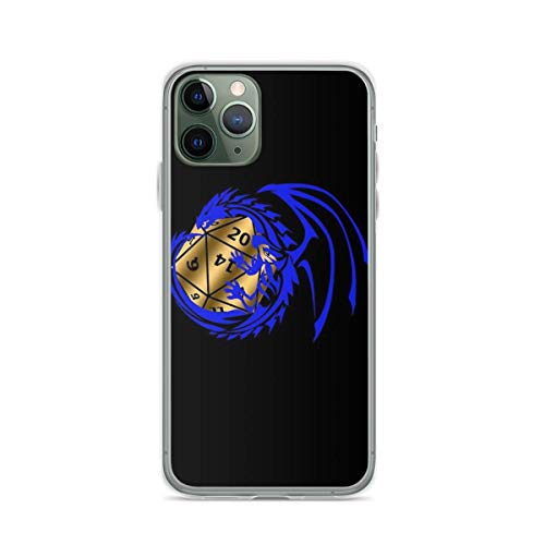 Phone Case Dungeons and Dragons - Blue and Gold Compatible with iPhone 6 6s 7 8 X XS XR 11 Pro Max SE 2020 Samsung Galaxy Waterproof Absorption Funny