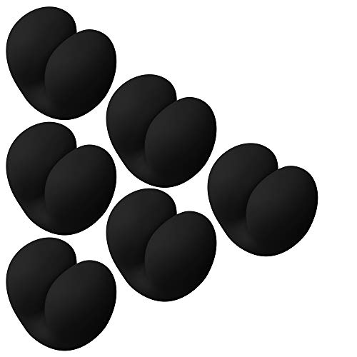 ELFRhino ケーブルクリップ コード管理 デスクトップケーブルオーガナイザー マウスコードホルダー 自宅 オフィス デスク アクセサリー ーブル ヘッドフォンケーブルの整理に適し 片づけ 優れるシリコン 両面テープ 6個セット (ブラウン)