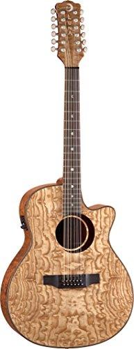 Luna Guitars WL ASH 12 Guitare électro-acoustique 12 cordes en...